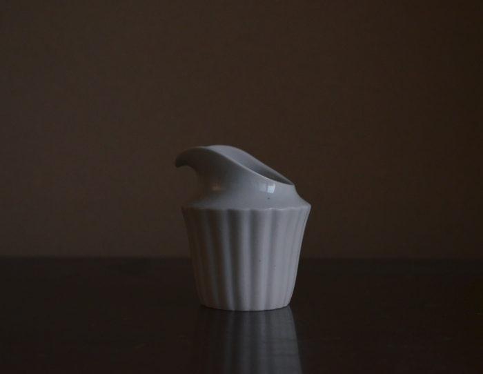 村上雄一 白磁 ミルクジャー