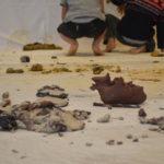 アーティスト谷本真理さんのキッズ粘土ワークショップに娘が参加しました